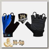 Перчатки черно-синие