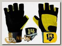 Перчатки c фиксатором черно-желтые