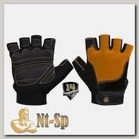 Перчатки черно-оранжевые