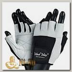 Перчатки Fitness MFG444 - бело-черные