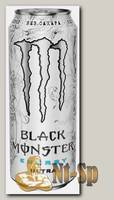 Black Monster Energy Ultra White